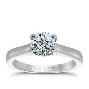 Leo Diamond 18ct White Gold 1.25ct I-S12 Solitaire Ring - Product number 4060601
