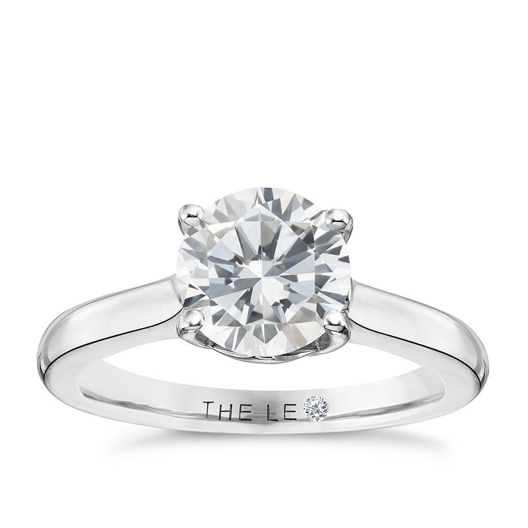 Leo Diamond 18ct White Gold 1.5ct I-S12 Solitaire Ring - Product number 4060733