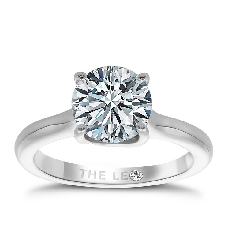 Leo Diamond 18ct White Gold 2ct I-SI2 Solitaire Ring - Product number 4060903