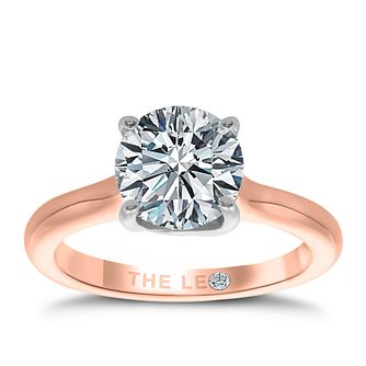 Leo Diamond 18ct Rose Gold 2ct I-SI2 Solitaire Ring - Product number 4062310