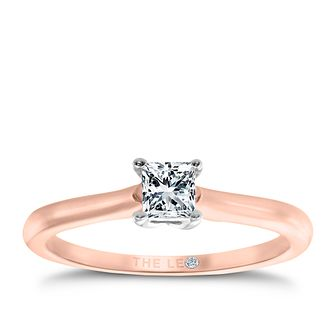 Leo Diamond rose gold 1/3ct I-SI2 princess cut ring - Product number 4064364