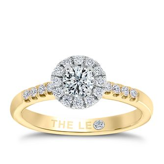 Leo Diamond 18ct gold 1/2ct I-P1 diamond cluster ring - Product number 4065530