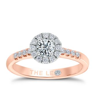 Leo Diamond 18ct rose gold 1/2ct I-P1 diamond cluster ring - Product number 4065670