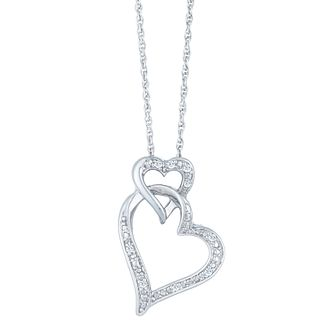 Sterling Silver & Diamond Heart Pendant - Product number 4066022