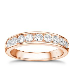 Tolkowsky 18ct rose gold 0.75ct I-I1 diamond ring - Product number 4067967