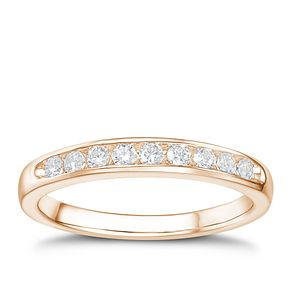 Tolkowsky 18ct rose gold 1/4ct HI-SI2 diamond ring - Product number 4068092