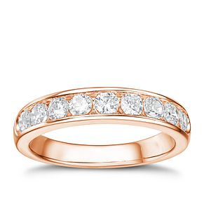 Tolkowsky 18ct rose gold 3/4ct HI-SI2 diamond ring - Product number 4068238
