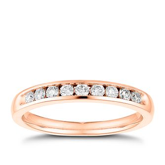 Tolkowsky 18ct rose gold 1/4ct I-I1 diamond ring - Product number 4068610