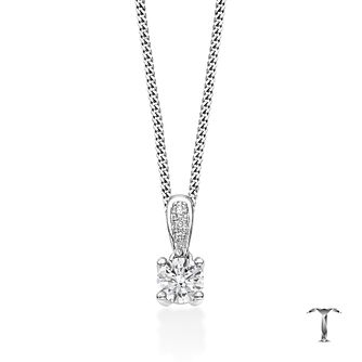 Tolkowsky Platinum 0.35ct round diamond drop pendant - Product number 4069714