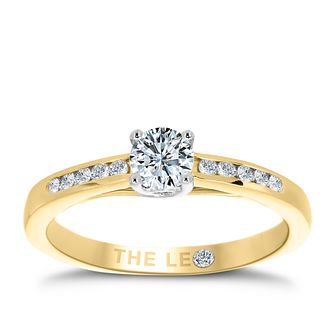 Leo Diamond 18ct rose gold 0.40ct I-I1 diamond solitaire - Product number 4070186