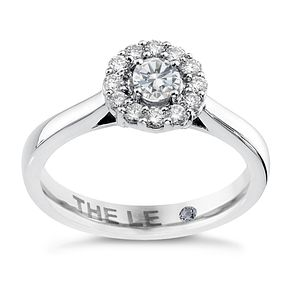 Leo Diamond 18ct white gold 1/2ct I-SI1 diamond halo ring - Product number 4070720