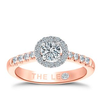 Leo Diamond 18ct rose gold 3/4ct I-P1 diamond cluster ring - Product number 4071255