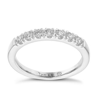 Leo Diamond platinum 1/3ct I-I1 claw set diamond band - Product number 4072138