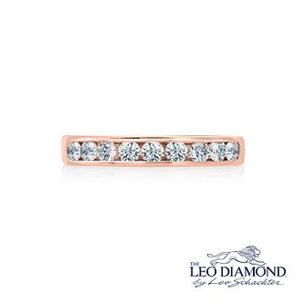 Leo Diamond 18ct rose gold 1/2ct I-P1 diamond eternity band - Product number 4072669