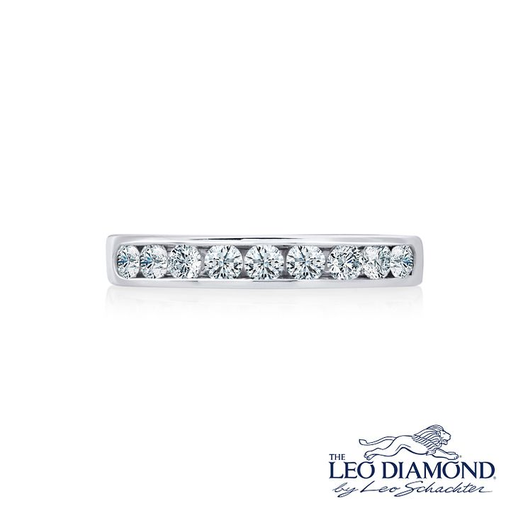 Leo Diamond platinum 0.50ct I-P1 diamond eternity band - Product number 4072952