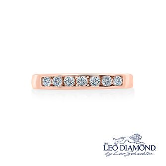 Leo Diamond 18ct rose gold 1/3ct I-I1 diamond band - Product number 4073215