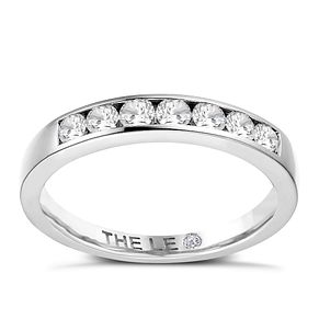 Leo Diamond Platinum 1/3ct I I1 Channel Set Band - Product number 4073347