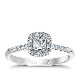 Leo Diamond 0.33ct  I I1 Cushion Halo Ring - Product number 4074157