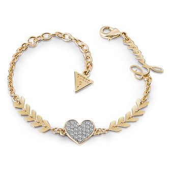 Guess Gold Plated Rhodium Multi Arrow & Heart Bracelet - Product number 4075218