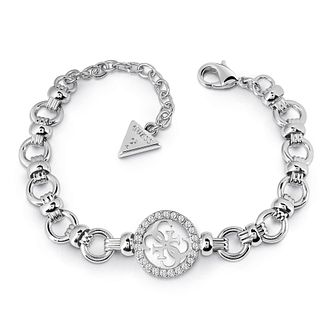 Guess Silver Plated Rhodium Large Chain Bracelet - Product number 4075412