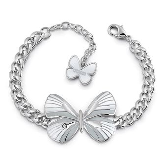 Guess Silver Plated Rhodium White Butterfly Bracelet - Product number 4075544