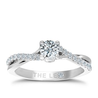 Leo Diamond 2/3ct I I1 Solitaire Twist Ring - Product number 4075803