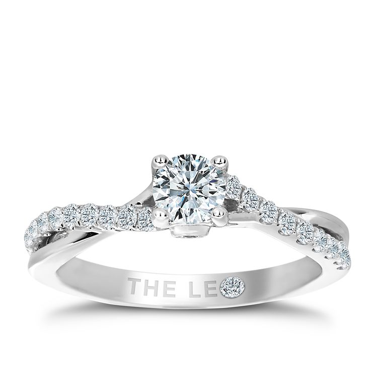 Leo Diamond 0.66ct I I1 Solitaire Twist Ring - Product number 4075803