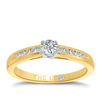 Leo Diamond 18ct gold 1/4ct I-I1 diamond solitaire ring - Product number 4075994