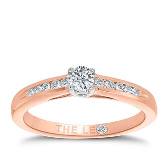Leo Diamond 18ct rose gold 1/4ct I-I1 diamond ring - Product number 4076125