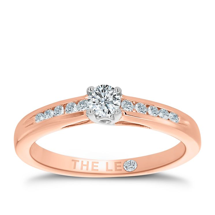 Leo Diamond 18ct rose gold 0.25ct I-I1 diamond ring - Product number 4076125