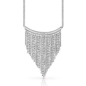 Guess Silver Plated Rhodium Waterfall Chain Necklace - Product number 4076338