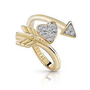 Guess Gold Plated Rhodium Cupid's Arrow Ring - Product number 4076478