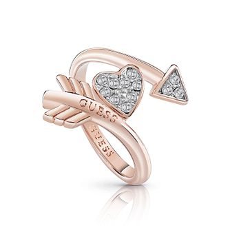 Guess Rose Gold Plated Rhodium Arrow Ring - Product number 4076486