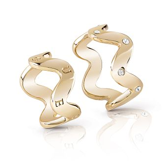 Guess Gold Plated Rhodium Set of Two Wave Rings - Product number 4076532