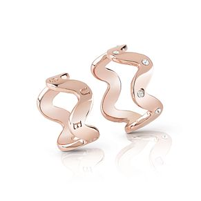 Guess Rose Gold Plated Rhodium Set of Two Wave Rings - Product number 4076540