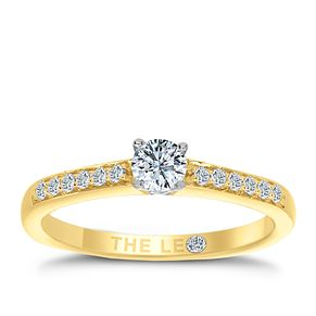 Leo Diamond 18ct gold 1/3ct I-I1 diamond solitaire ring - Product number 4076613