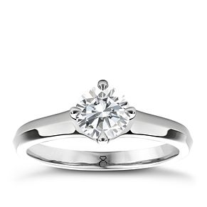 The Diamond Story 18ct White Gold 2/3ct diamond solitaire - Product number 4089723