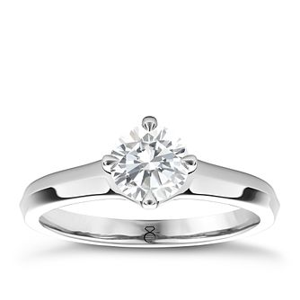 The Diamond Story 18ct white gold diamond solitaire - Product number 4090012