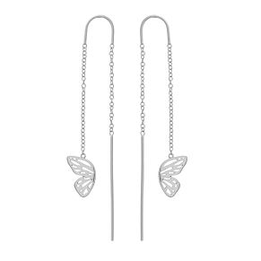 Olivia Burton Ladies' Silver Butterfly Drop Earrings - Product number 4090608
