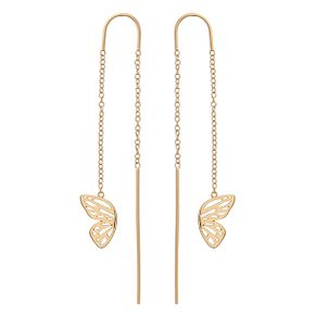 Olivia Burton Gold Metal Plated Butterfly Drop Earrings - Product number 4090616