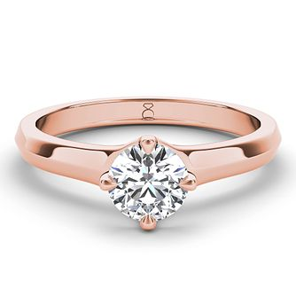 The Diamond Story 18ct rose gold 2/3ct diamond solitaire - Product number 4090764