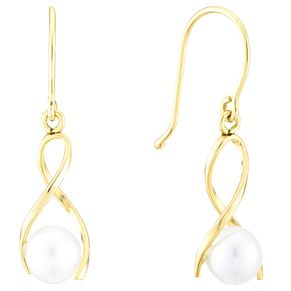 9ct Yellow Gold 5mm Pearl Drop Earrings - Product number 4090799