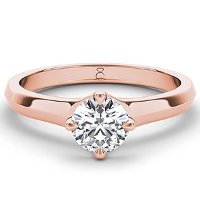 The Diamond Story 18ct rose gold diamond solitaire - Product number 4091043