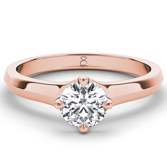 The Diamond Story 18ct rose gold 0.90ct diamond solitaire - Product number 4091043