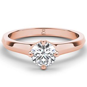 The Diamond Story 18ct rose gold 1ct diamond solitaire ring - Product number 4091175