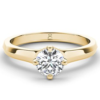 The Diamond Story 18ct gold diamond solitaire - Product number 4092058