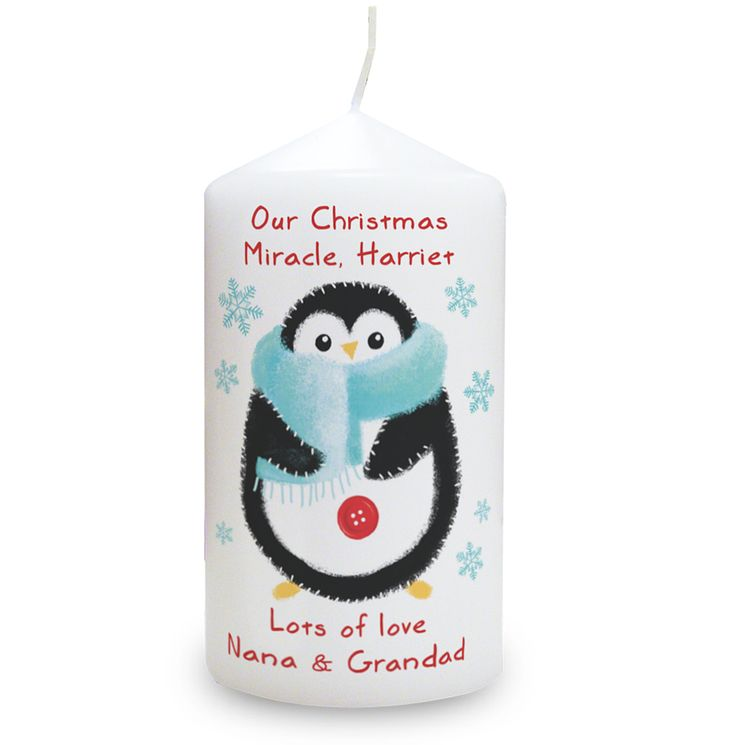 Felt Stitch Penguin Candle - Product number 4096282