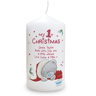 Personalised Me To You My 1st Christmas Candle - Product number 4096401