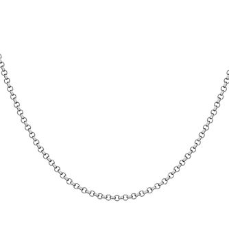 "Lily & Lotty Rhodium Plated 30"" Belcher Chain - Product number 4097165"