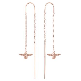 Olivia Burton Queen Bee Rose Gold Metal Plated Drop Earrings - Product number 4097610